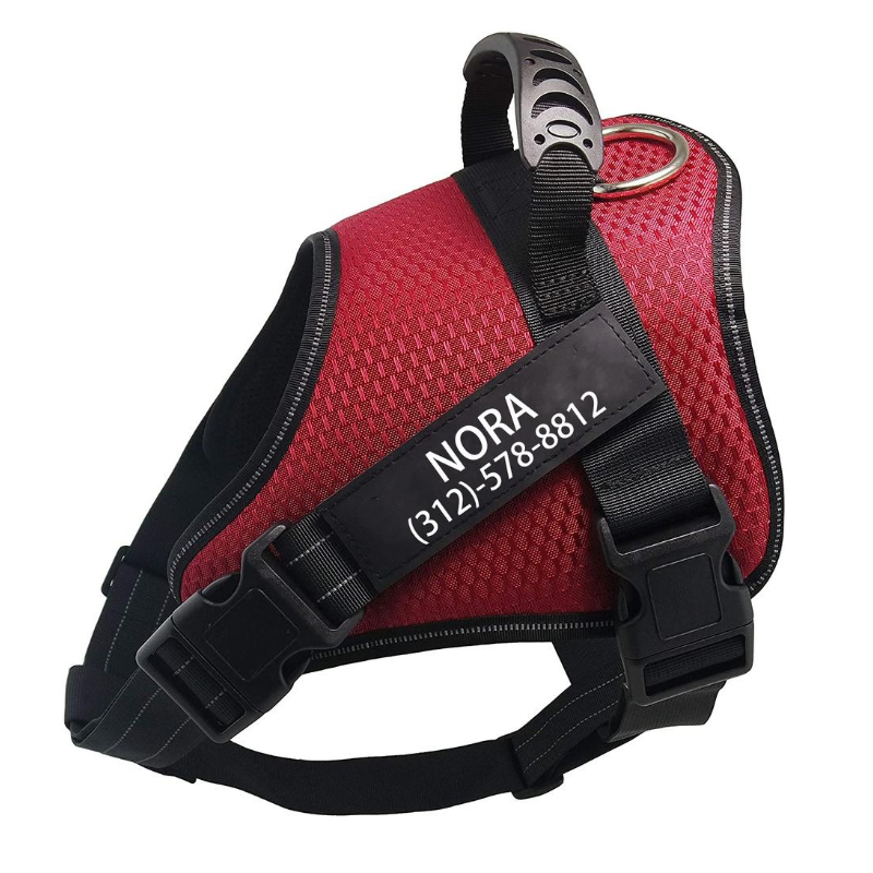 Custom No Pull Dog Harness Red