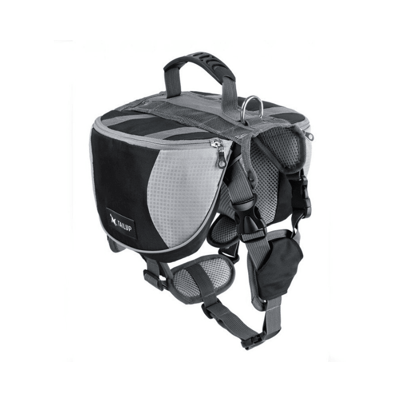 All Purpose™ Dog Backpack Harness-Paw Roll,Black / L (60-85LBS)
