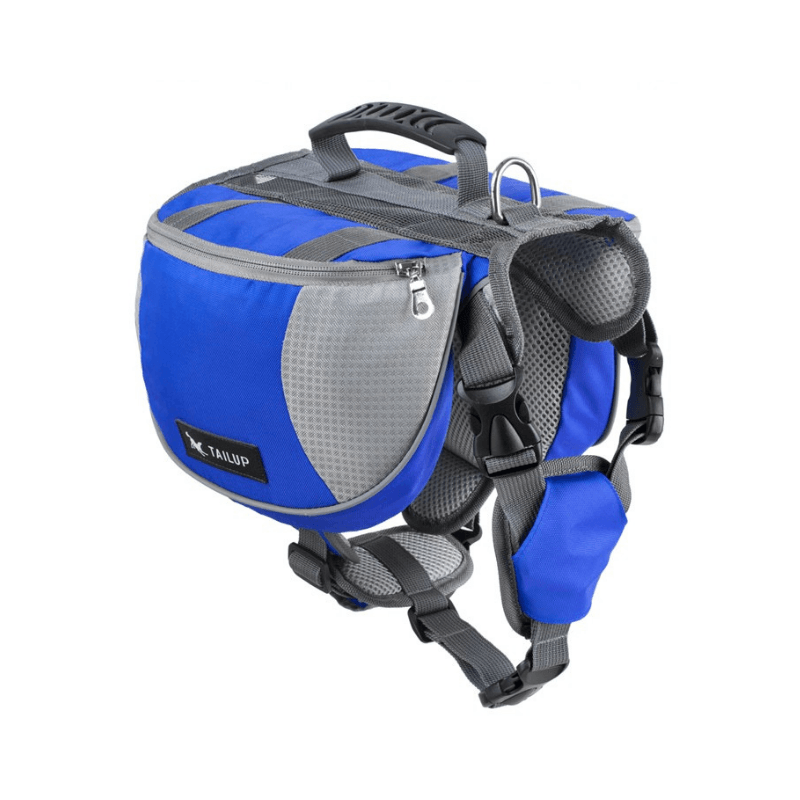 All Purpose™ Dog Backpack Harness-Paw Roll,Blue / L (60-85LBS)