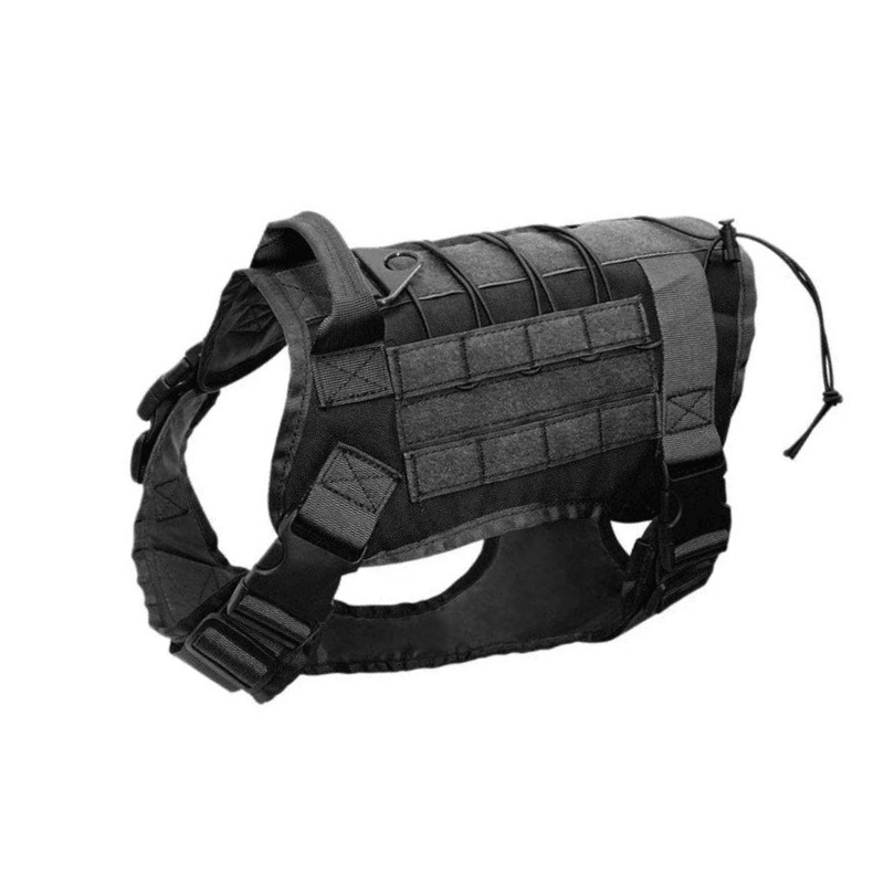 All Purpose™ Tactical Service Dog Vest-Paw Roll,Black / L