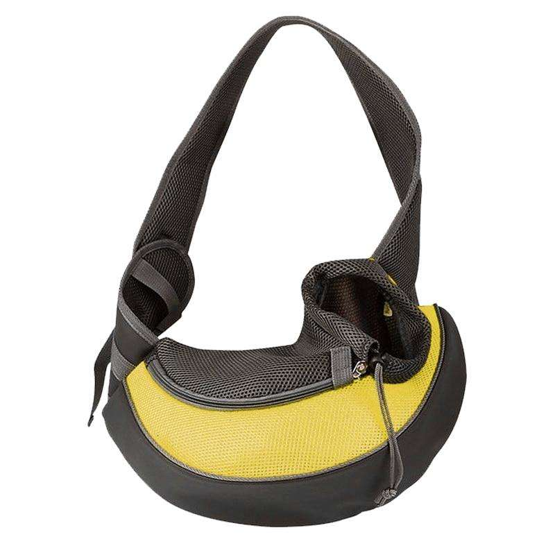 Fashion Small Puppy Carrier-Paw Roll,Yellow / S (Up to 7 lbs)