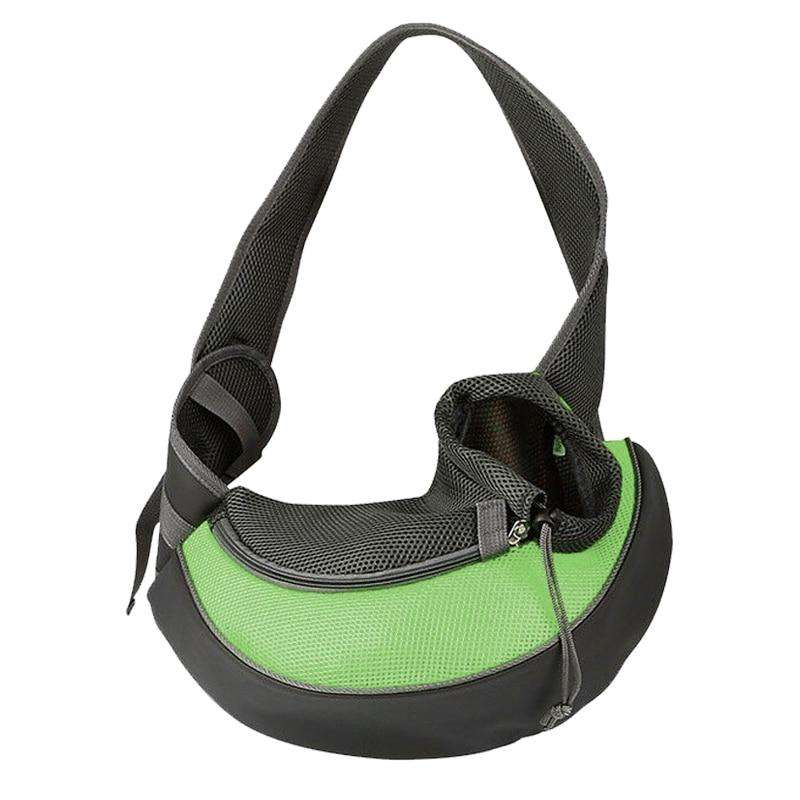 Fashion Small Puppy Carrier-Paw Roll,Green / S (Up to 7 lbs)