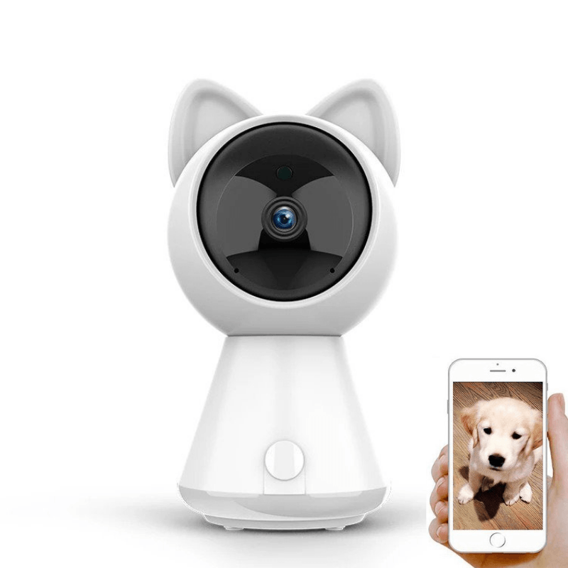 PawRoll™ 1080p Cute Cat Security Pet Camera-Paw Roll