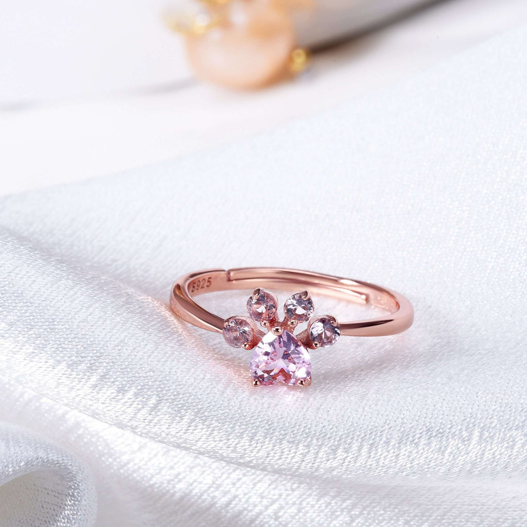 Rose Golden Paw Ring-Paw Roll