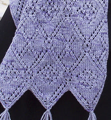 Pattern - Diamonds and Lace Scarf