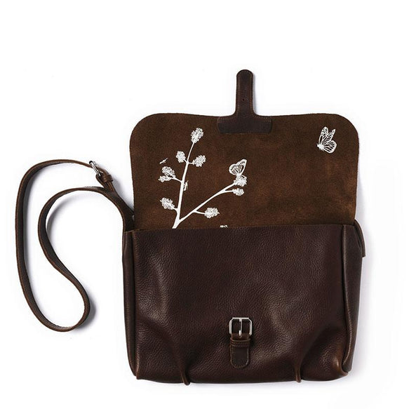 Tasche, Flora & Fauna, Dark Brown used look