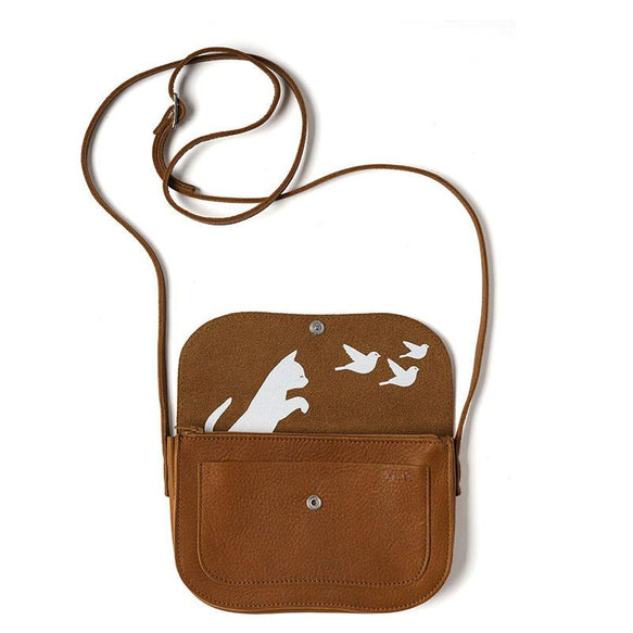 Tasche, Cat Chase, Cognac used look