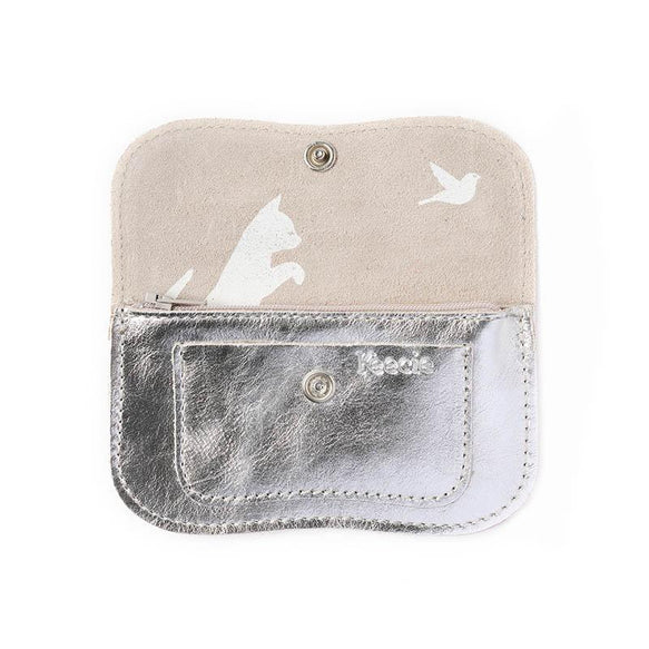 Portmonnaie, Cat Chase Small, Silver
