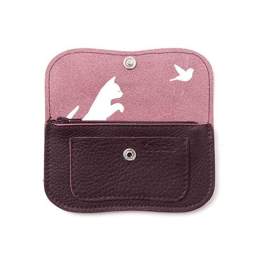 Portemonnaie, Cat Chase Small, Aubergine