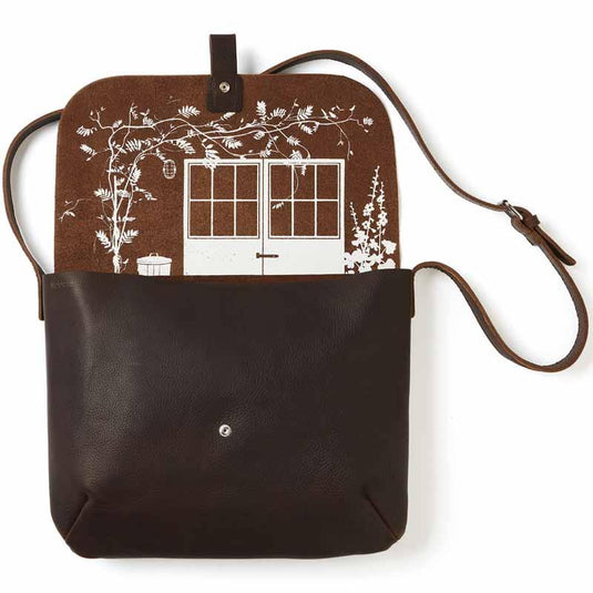 Schultertasche, Back Yard, Dark Brown used look