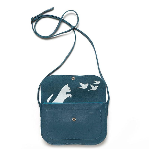 Tasche, Cat Chase, Faded Blue