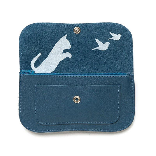 Portemonnaie, Cat Chase Medium, Faded Blue