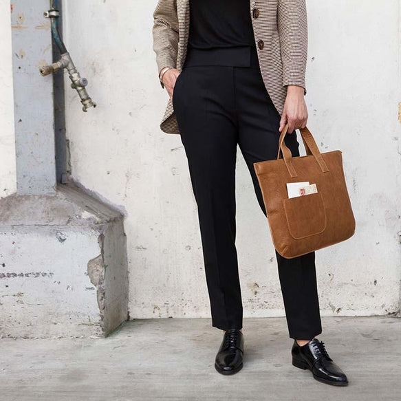 Tasche, Elephant Joke, Cognac used look
