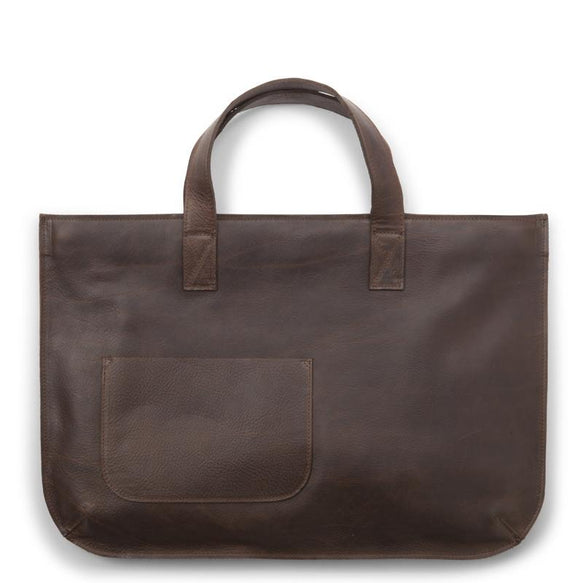 Tasche, Elephant Joke, Dark Brown used look