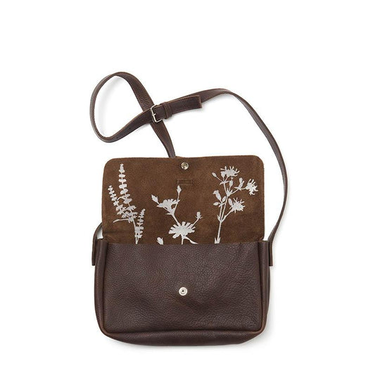 Tasche, Picking Flowers Medium, Dark Brown used look