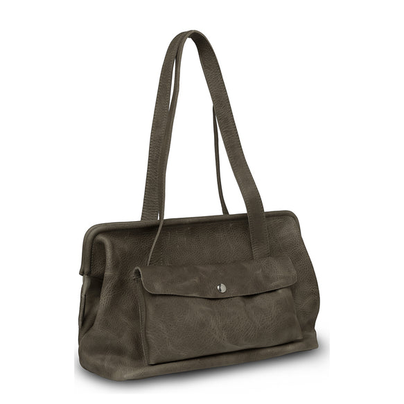Tasche, Room Service, Grey Brown used look