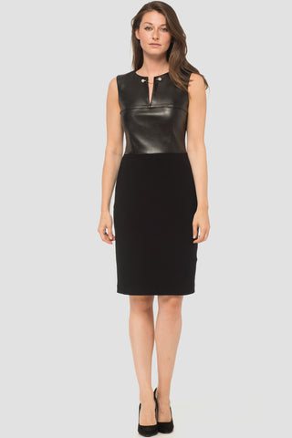 Joseph Ribkoff faux Leather Top Dress
