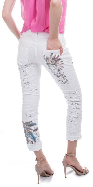Feather Print Pant