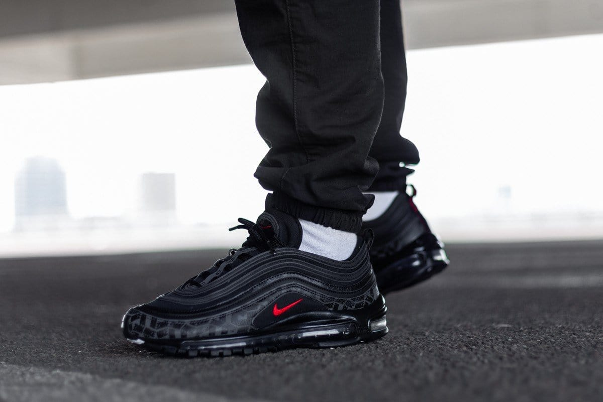 Nike Air Max 97 Reflective Logos Black Ar4259 001 London Area