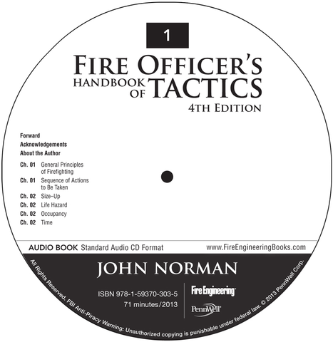 Fire Officer's Handbook of Tactics, 4th Edition—Audio Book