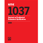 NFPA 1037: Standard for Professional Qualifications for Fire Marshall, 2016 Edition
