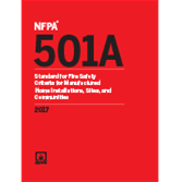 NFPA 501A: Standard for Fire Safety Criteria for Manufactured Home Installations, Sites, and Communities, 2017 Edition