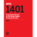 NFPA 1401: Recommended Practice for Fire Service Training Reports and Records, 2017 Ed.