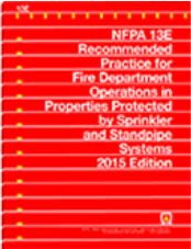 NFPA 13E: Recommended Practice for Fire Department Operations in Properties Protected by Sprinkler and Standpipe Systems