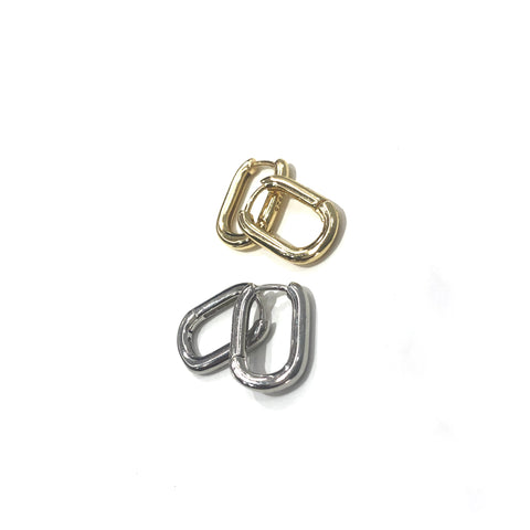 mini square circle pierce 【s925】