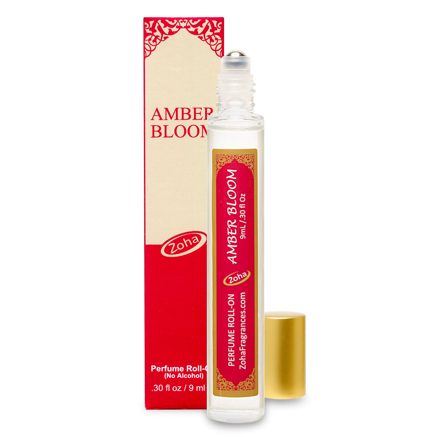 Amber Bloom (No Alcohol) Perfume Oil Roller by Zoha Fragrances