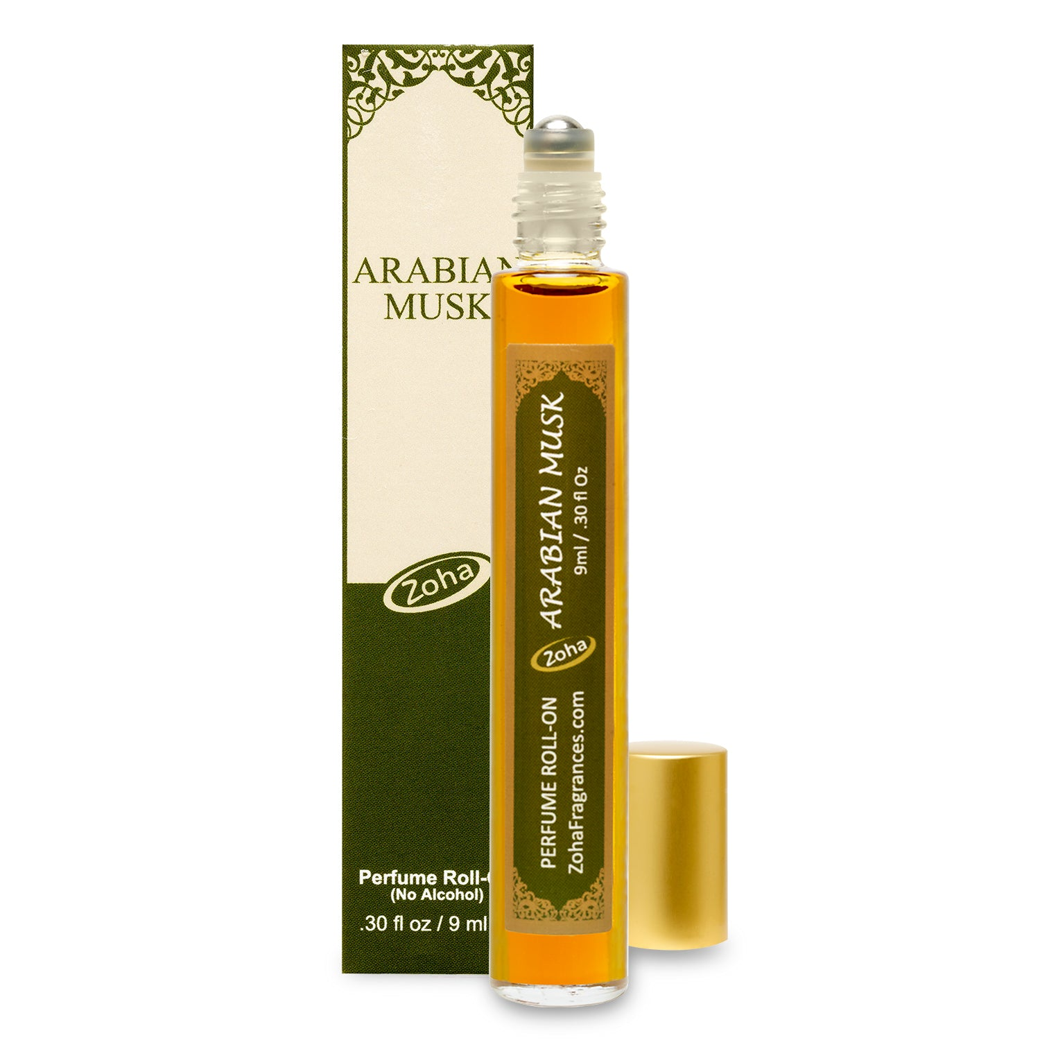 Arabian Musk (No Alcohol) Perfume Oil Roller by Zoha Fragrances