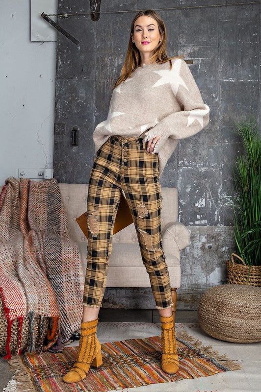 Plaid Retro Pants
