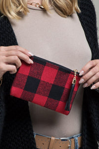 Buffalo Plaid Wristlet