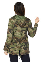 Load image into Gallery viewer, Camo Hooded Jacket