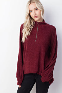 Zip up Cozy Sweater