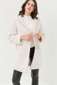Sherpa Hooded Over Sized Fleece