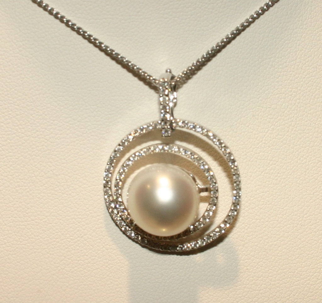 white south sea circle necklace