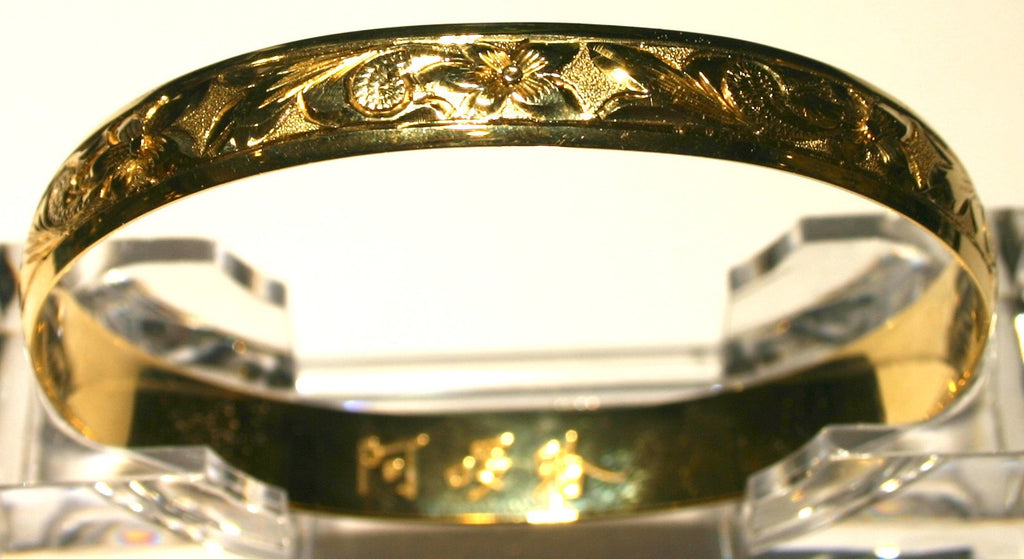 Hawaiian flower bangle