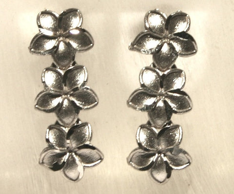 Hawaiian plumeria drop earrings