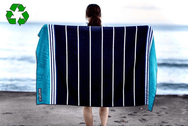 Black and Blue Stripes Towel