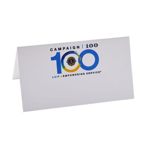 CAMPAIGN 100 PLACE CARDS