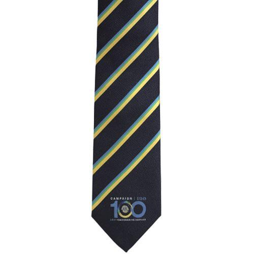 CAMPAIGN 100 YELLOW STRIPE TIE