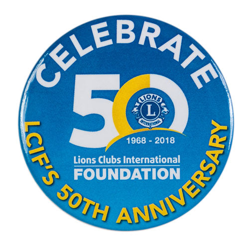 LCIF 50TH BUTTONS 10/PACK