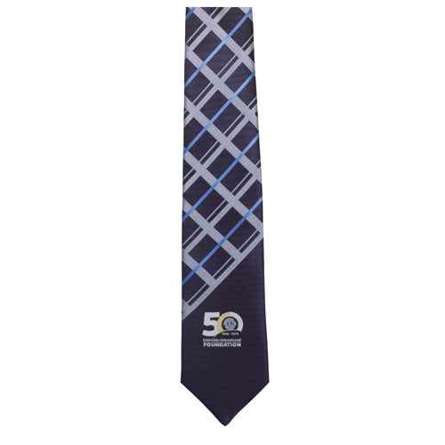 LCIF CHECKERED SILK TIE