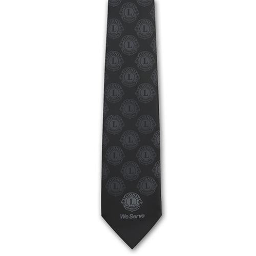 BLACK WE SERVE TIE POLYESTER