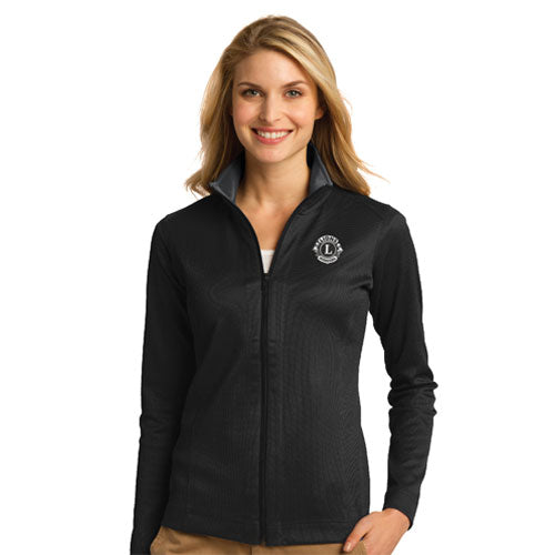 FULL ZIP TEXTURE WOMENS JACKET