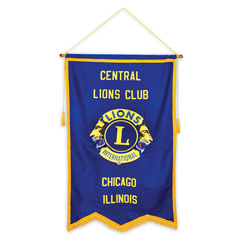 BLUE NYLON LIONS CLUB BANNER