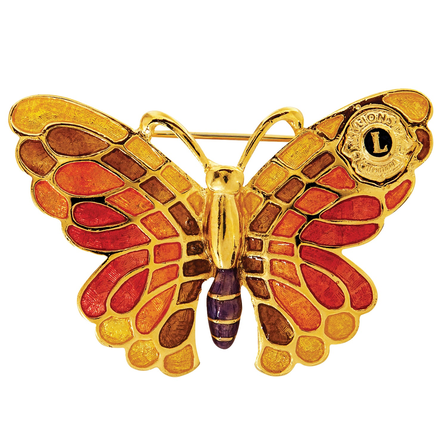 MULTI COLORED BUTTERFLY PIN +
