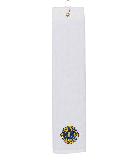 FOLDED GOLF TOWEL WHITE