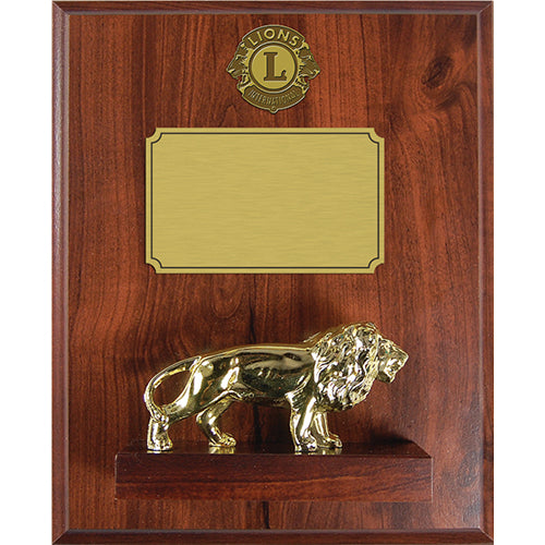 CAST LION PLAQUE